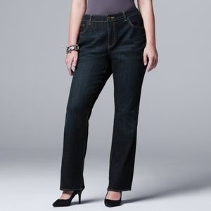 Simply Vera by Vera Wang Slim Boot Cut Denim Jeans